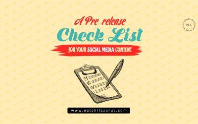 A Pre-Release Social Media Content Checklist: For Nonprofits & Churches