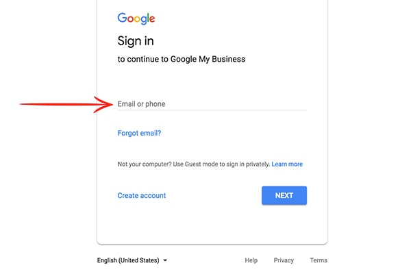 Step 1 Google My Business Set up