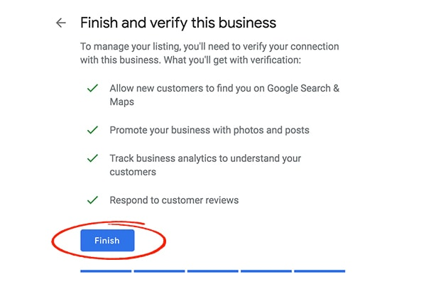Step 7 Google My Business Set up