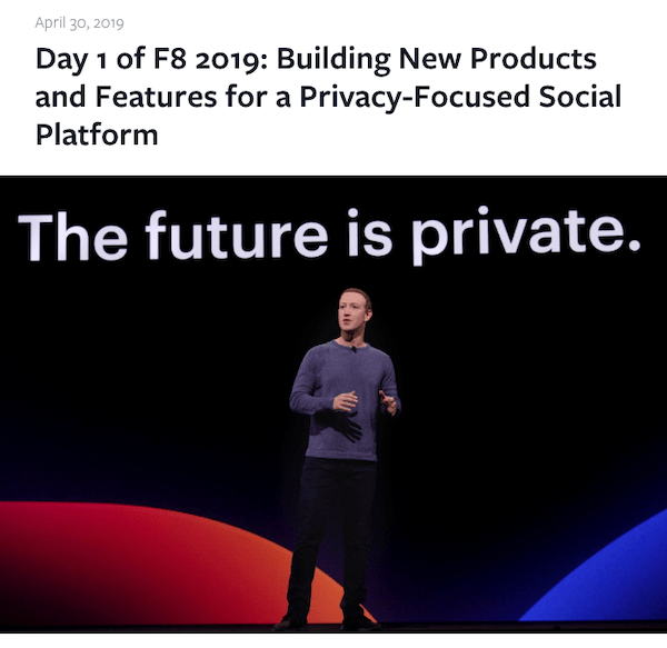 F8 News Mark Zuckerberg Making Announcements