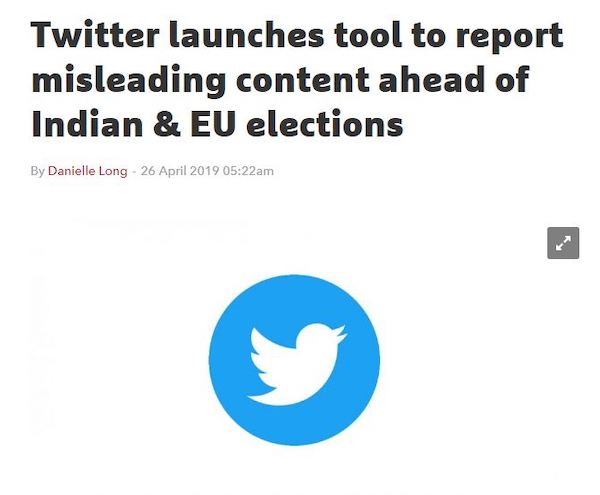 Twitter election tool for misleading content