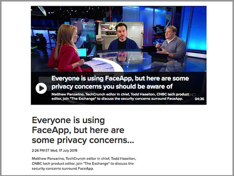 News 5 - Pic 1 - FaceApp Privacy Concern