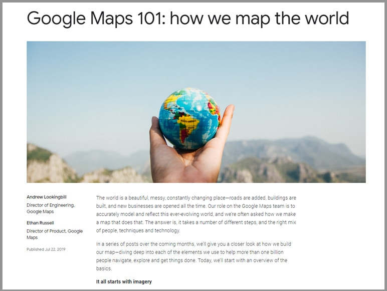 News 3 - Google releases details about how they map the world
