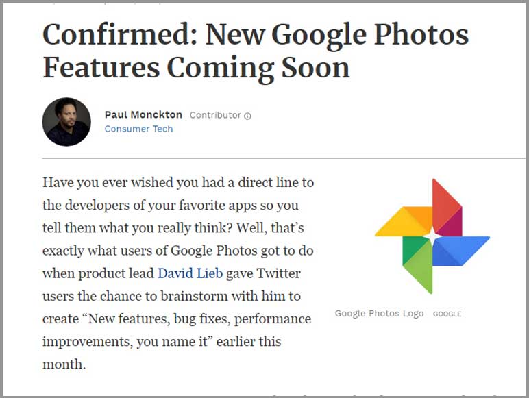 Google Photos News - release new features