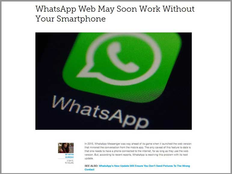 WhatsApp might soon allow you to use its web version without your smartphone