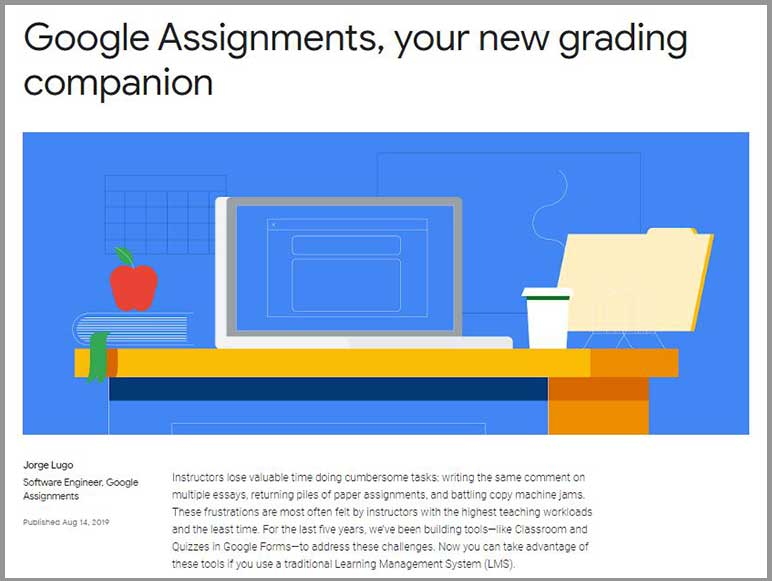 New education tool from Google: Google Assignments