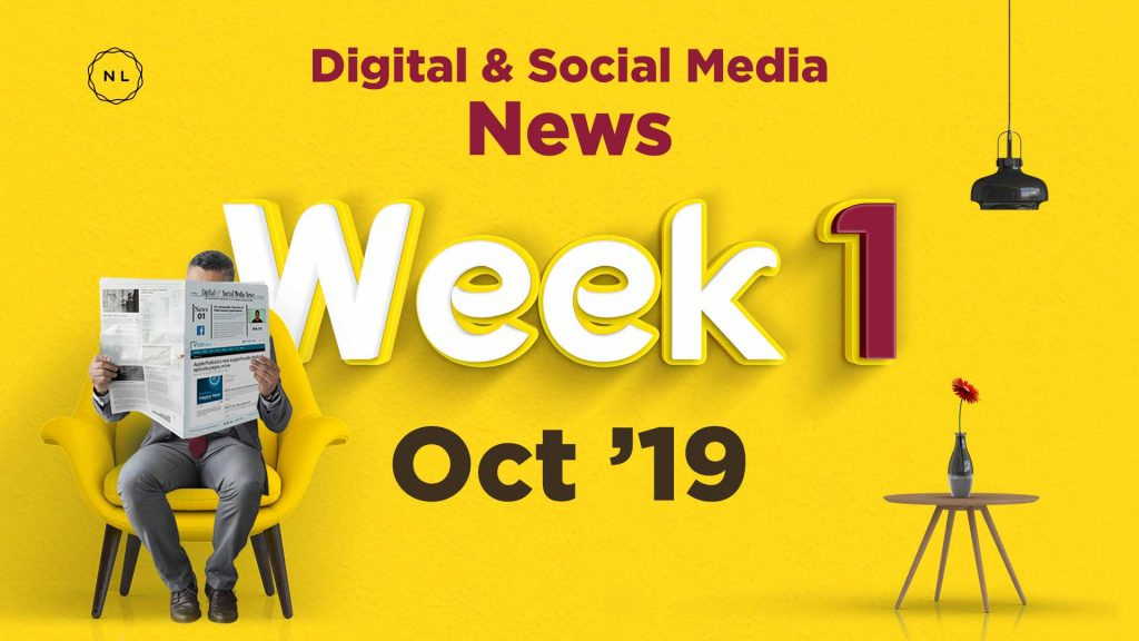 Digital and Social Media News for Nonprofit Church Ministry - October 2019, Week 1