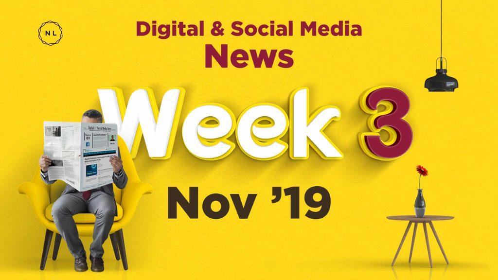 Digital and Social Media News for Nonprofit Church Ministry - November 2019, Week 3