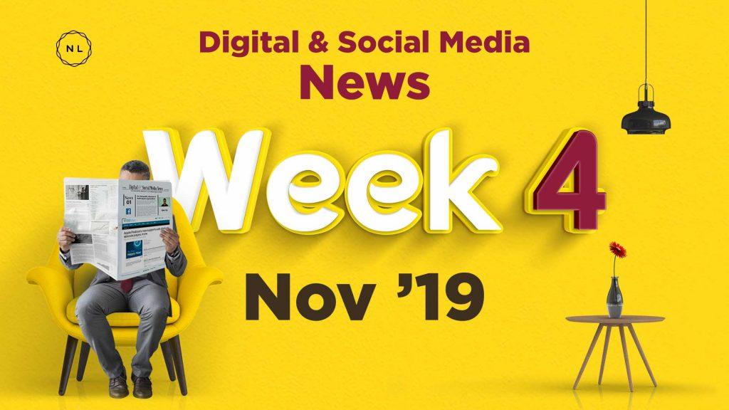 Digital and social media news for churches, nonprofits and faith based organisations Week 4, November 2019