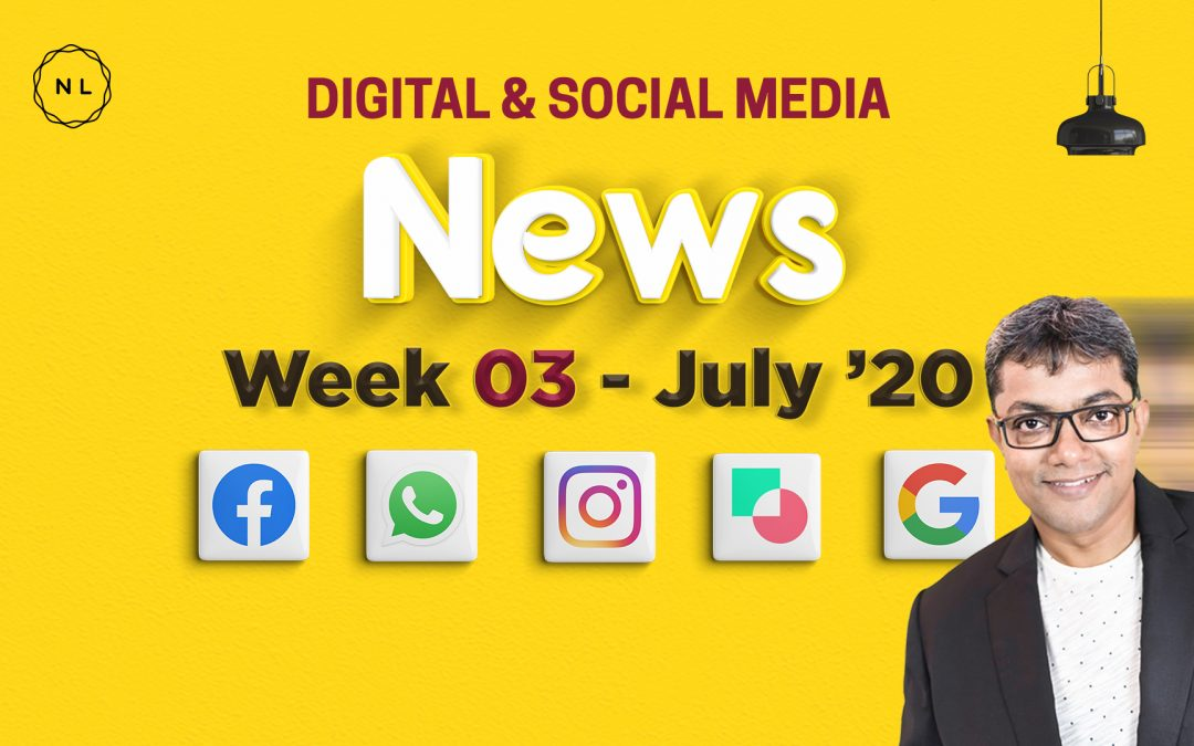 [Week 3, July 20] Digital & Social Media News for Nonprofits & Churches
