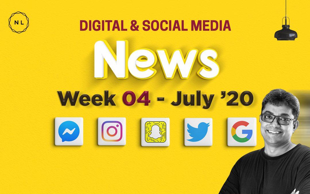 [Week 4, July 20] Digital & Social Media News for Nonprofits & Churches