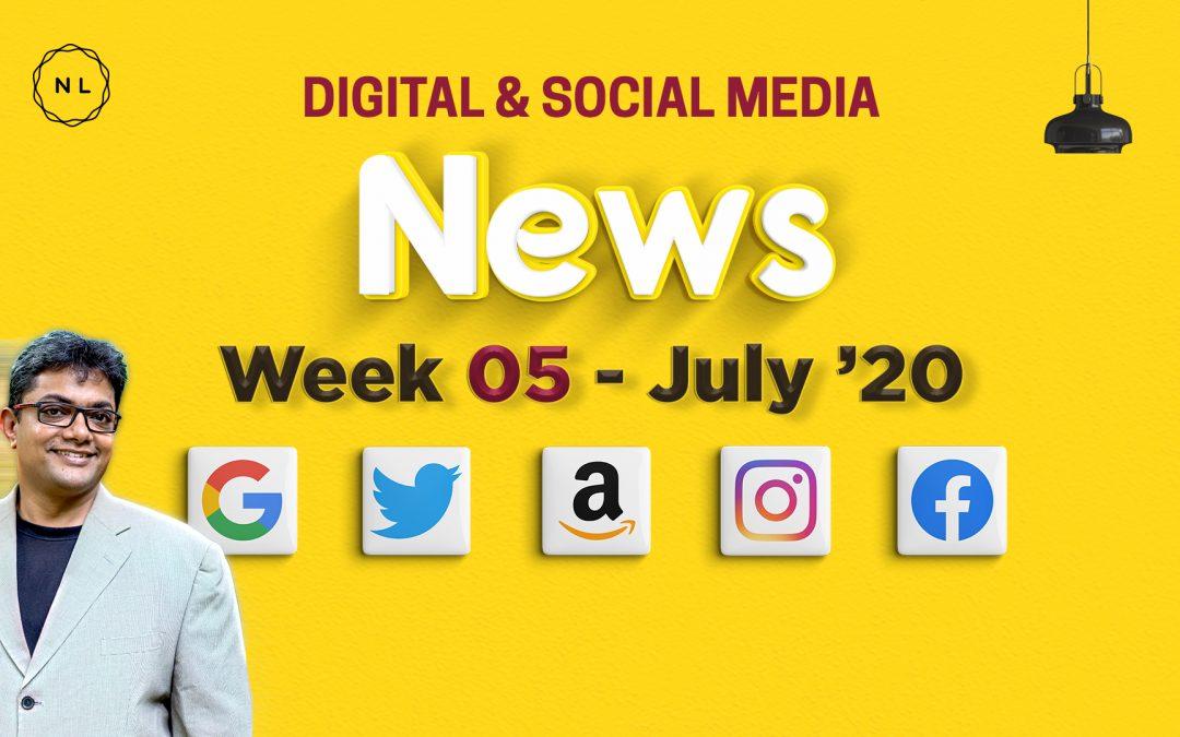 [Week 5, July 20] Digital & Social Media News for Nonprofits & Churches
