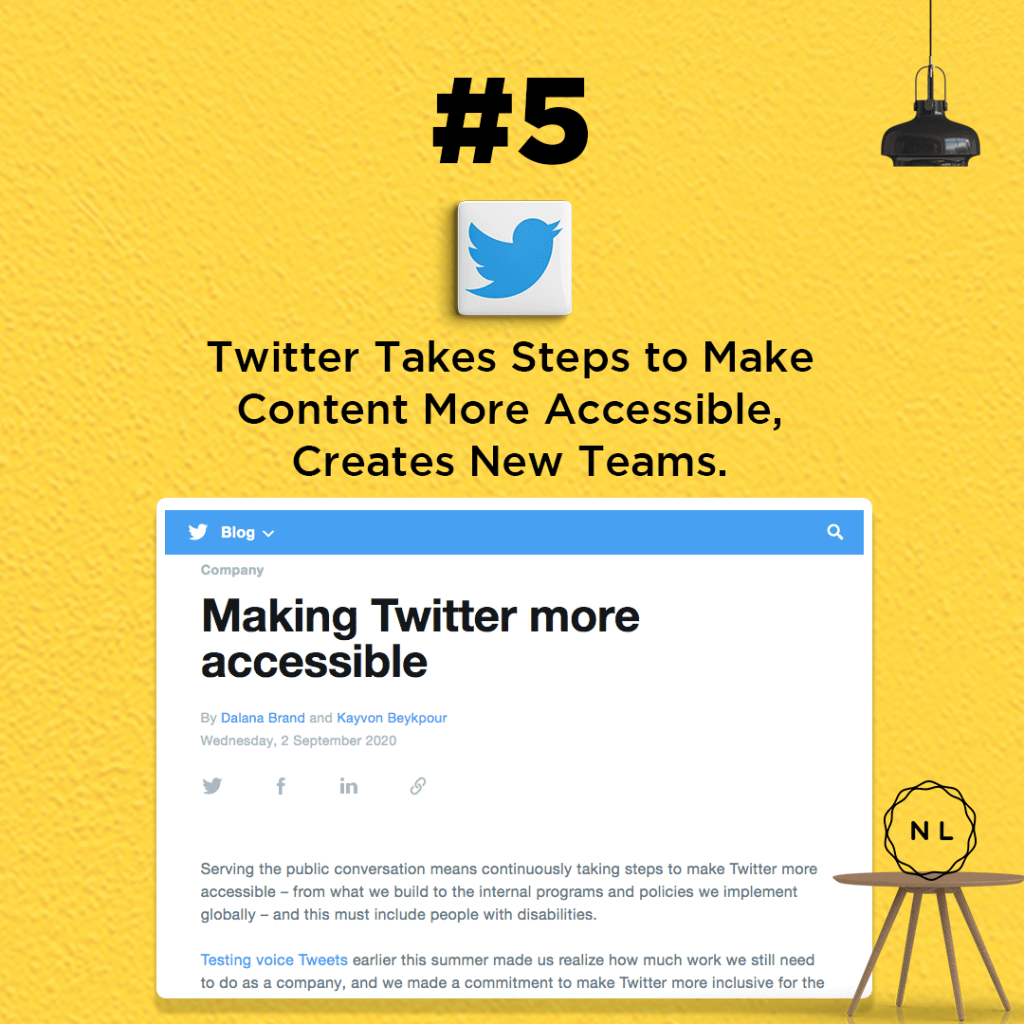 Twitter Takes Steps to Make Content More Accessible, Creates New Teams.