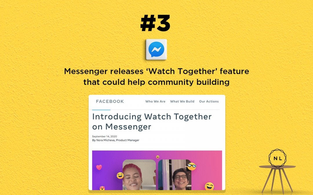News: Messenger releases 'Watch Together' feature that could help community building
