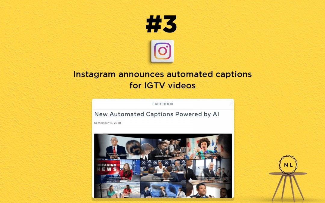 Digital Media News for the Online Church: IGTV Videos get automated captions