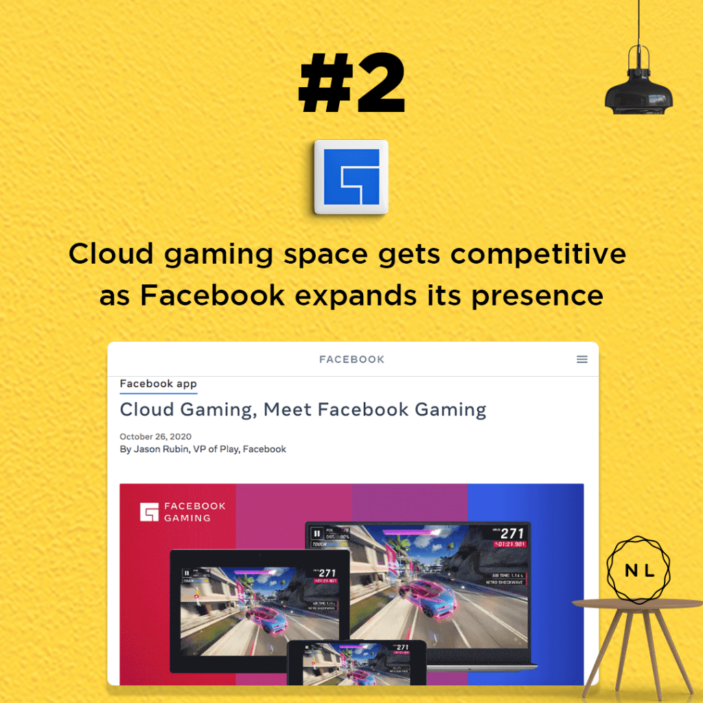 Cloud gaming space gets competitive as Facebook expands its presence.