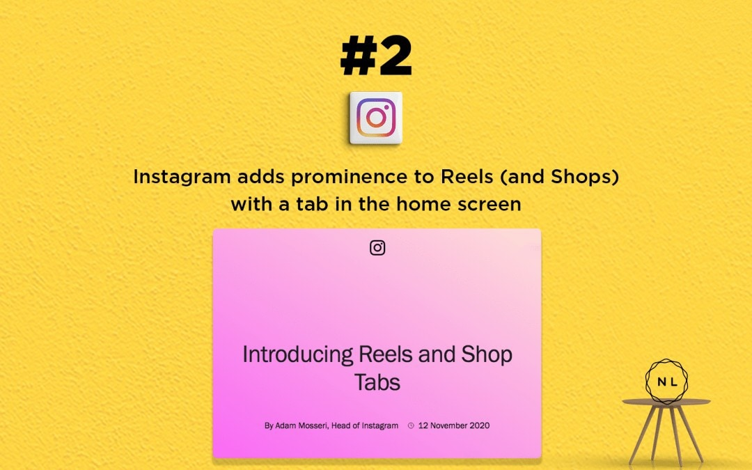 Church Online News: Instagram adds dedicated Reels & Shop tabs