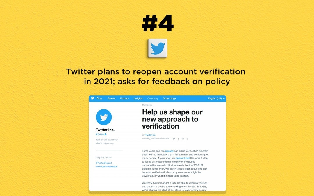 Twitter plans to reopen account verification: The Connected Church News