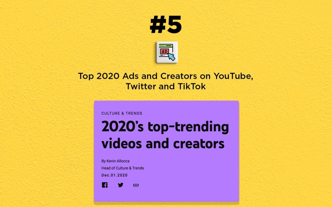 List of Top 2020 social media ads & creators: The Connected Church News