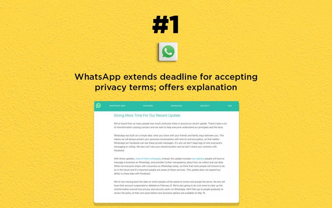 WhatsApp Extends Privacy Terms Deadline: The Connected Church News
