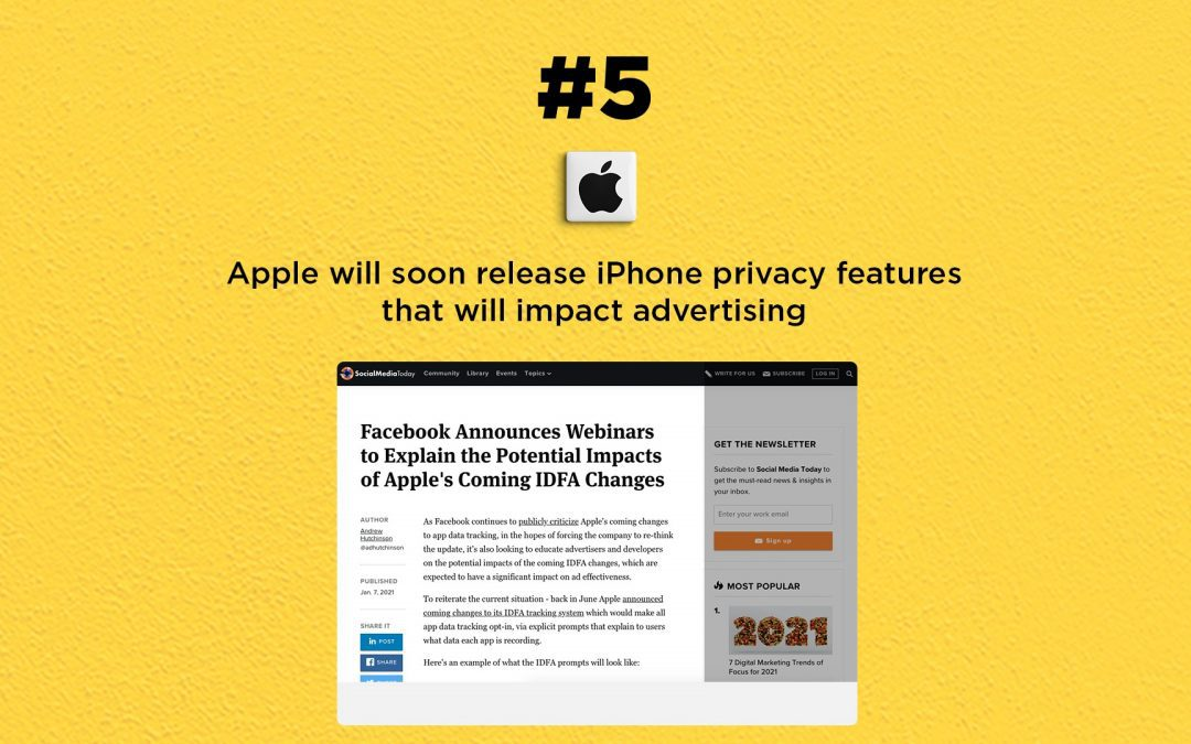 Apple to Release iPhone Privacy to Block Ad Tracking: The Connected Church News