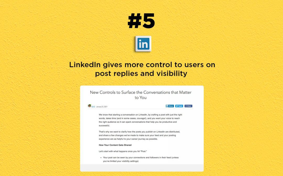 LinkedIn adds new visibility & reply options: The Connected Church News