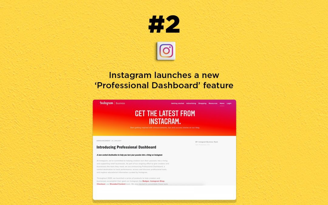 Instagram launches Professional Dashboard: The Connected Church News