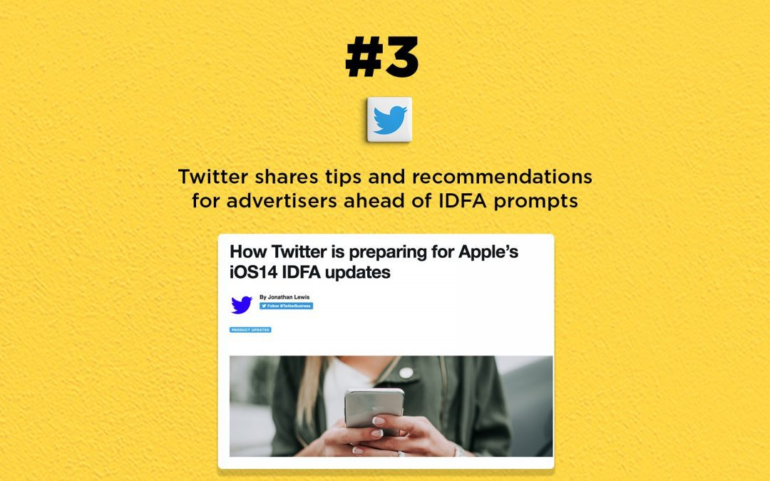Twitter prepares for Apple's IDFA prompts: The Connected Church News