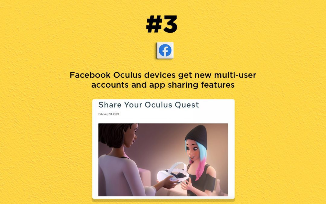 Facebook releases new features for Oculus VR: The Connected Church News