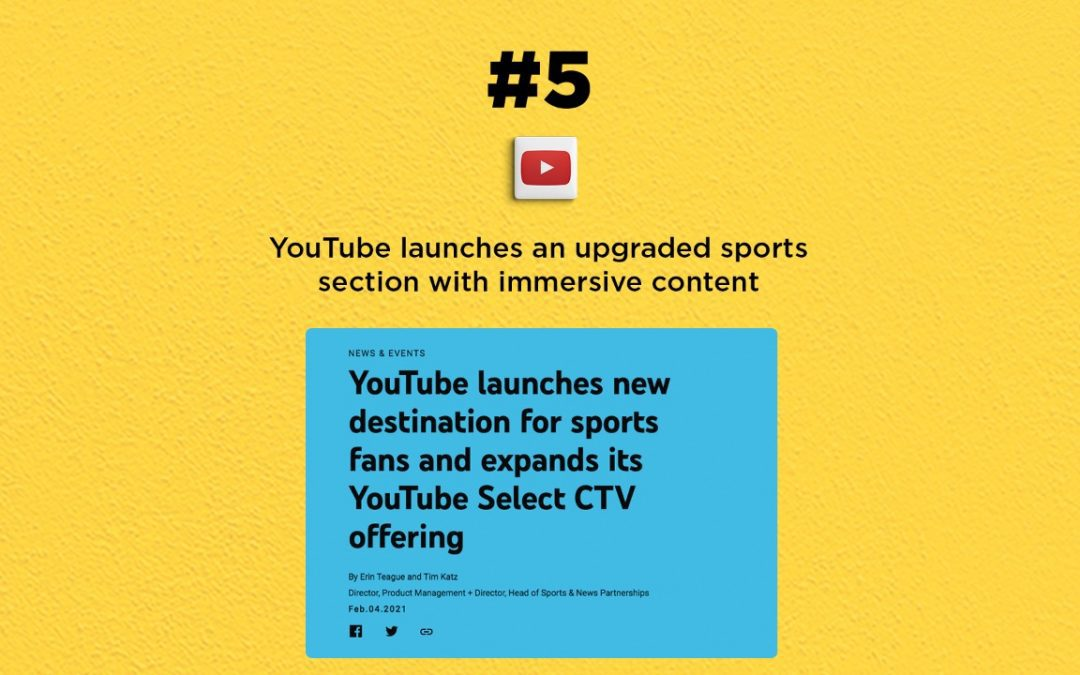 YouTube Sports gets an upgrade: The Connected Church News