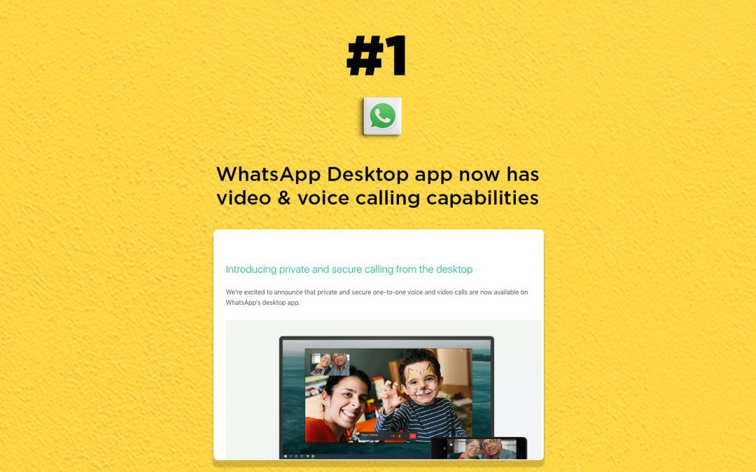 WhatsApp Desktop gets video & voice calls: The Connected Church News