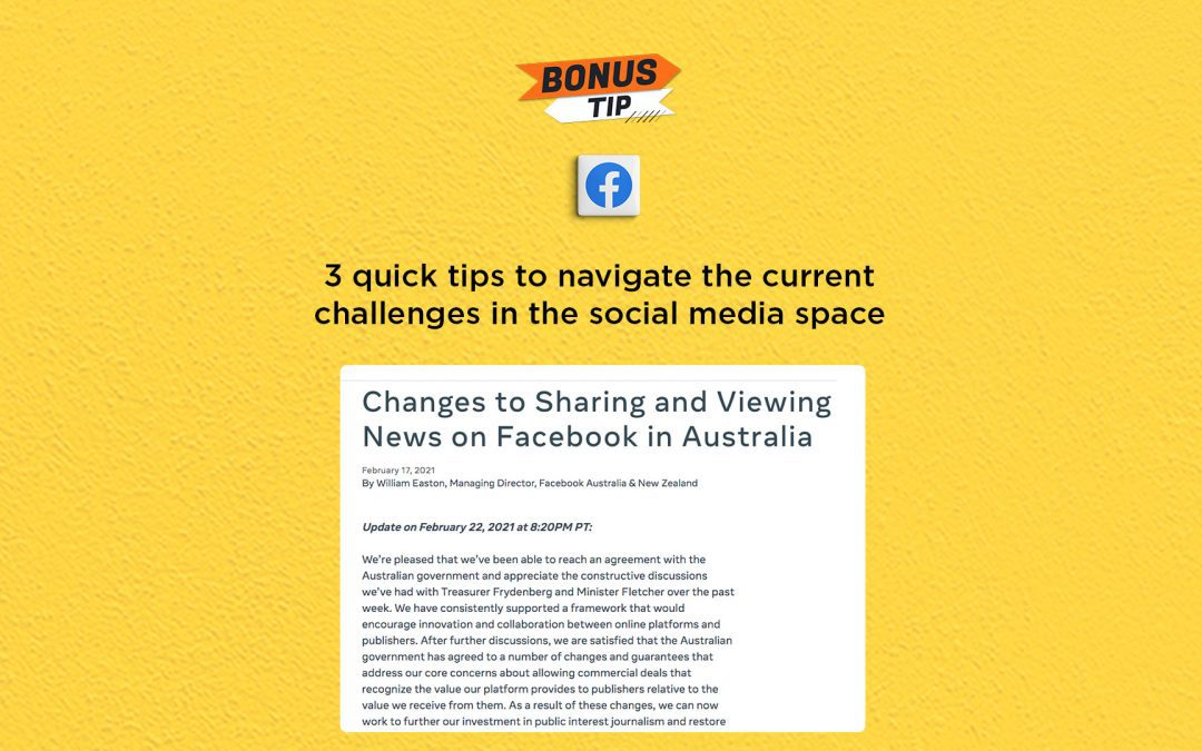 3 quick tips to navigate the current challenges in the social media space: The Connected Church News