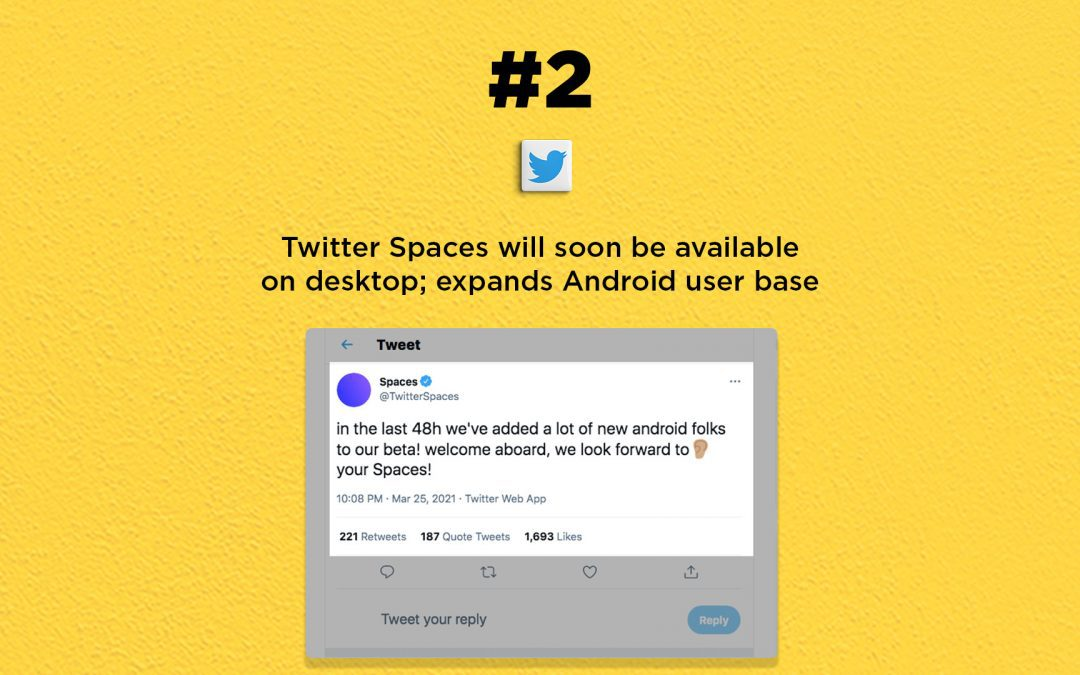 Twitter Spaces coming soon to desktop: The Connected Church News