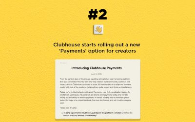 Clubhouse rolls out 'Payments' for creators: The Connected Church News