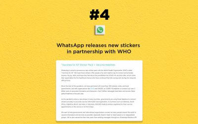 WhatsApp & WHO release new stickers: The Connected Church News