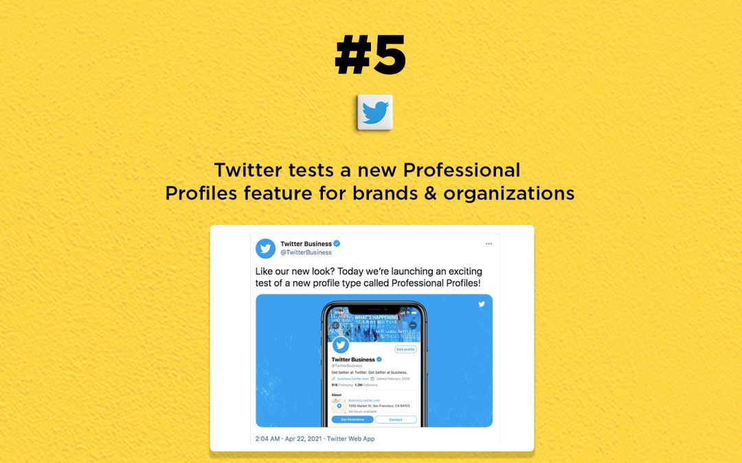 Twitter tests a new Professional Profiles feature: The Connected Church News