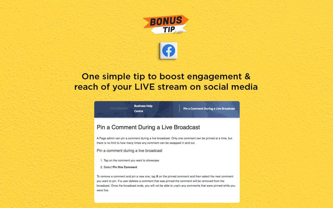One simple tip to boost engagement & reach of your social media LIVE streams: The Connected Church News
