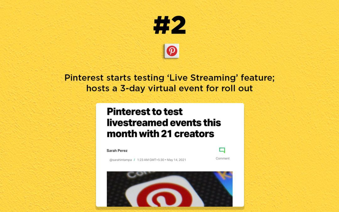 Pinterest starts testing  'Live Streaming' feature: The Connected Church News