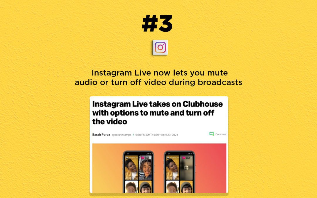Instagram Live gets audio-mute and video-off features: The Connected Church News