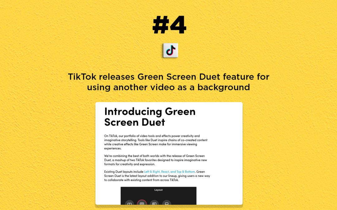 TikTok releases a new Green Screen Duet feature: The Connected Church News