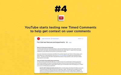 YouTube starts testing Timed Comments feature: The Connected Church News