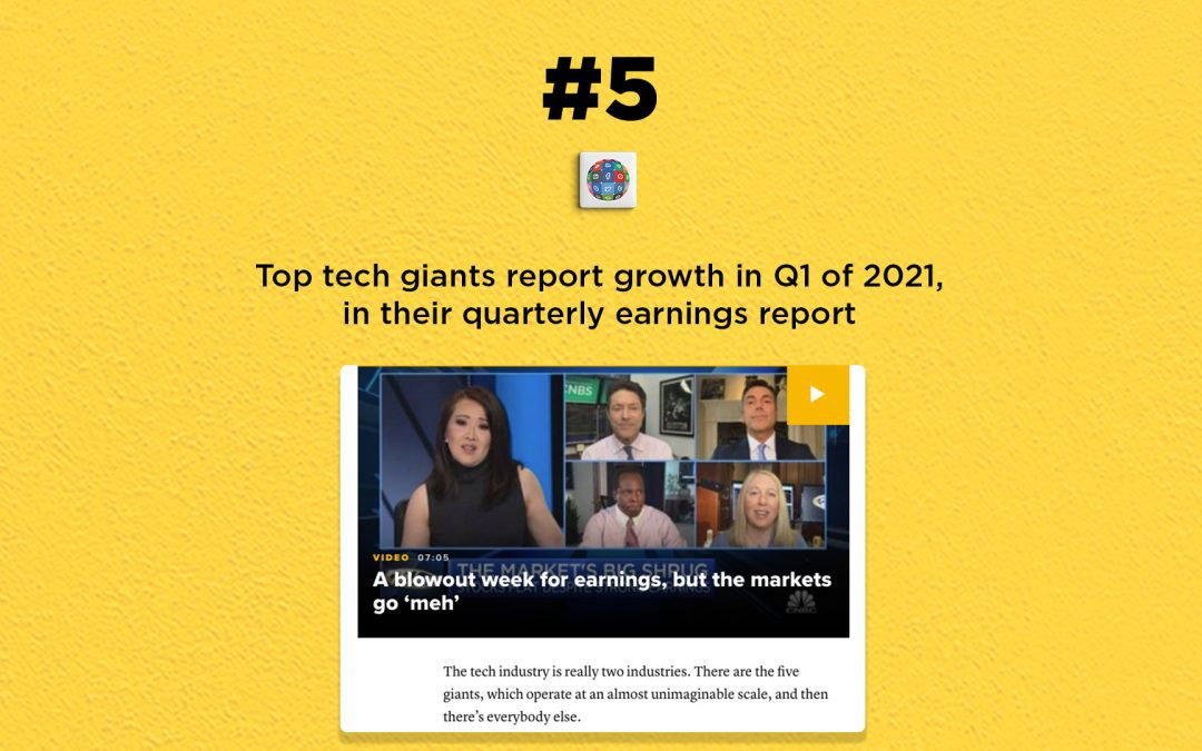 Top tech companies report growth in Q1, 2021: The Connected Church News