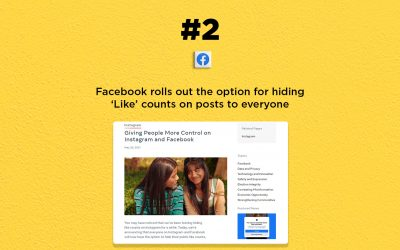 Facebook lets you hide 'Like' counts on posts: The Connected Church News