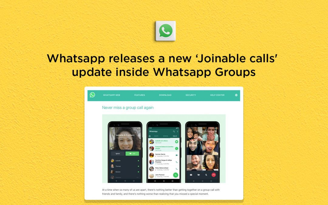 Whatsapp releases a new 'Joinable calls' feature inside Whatsapp Groups