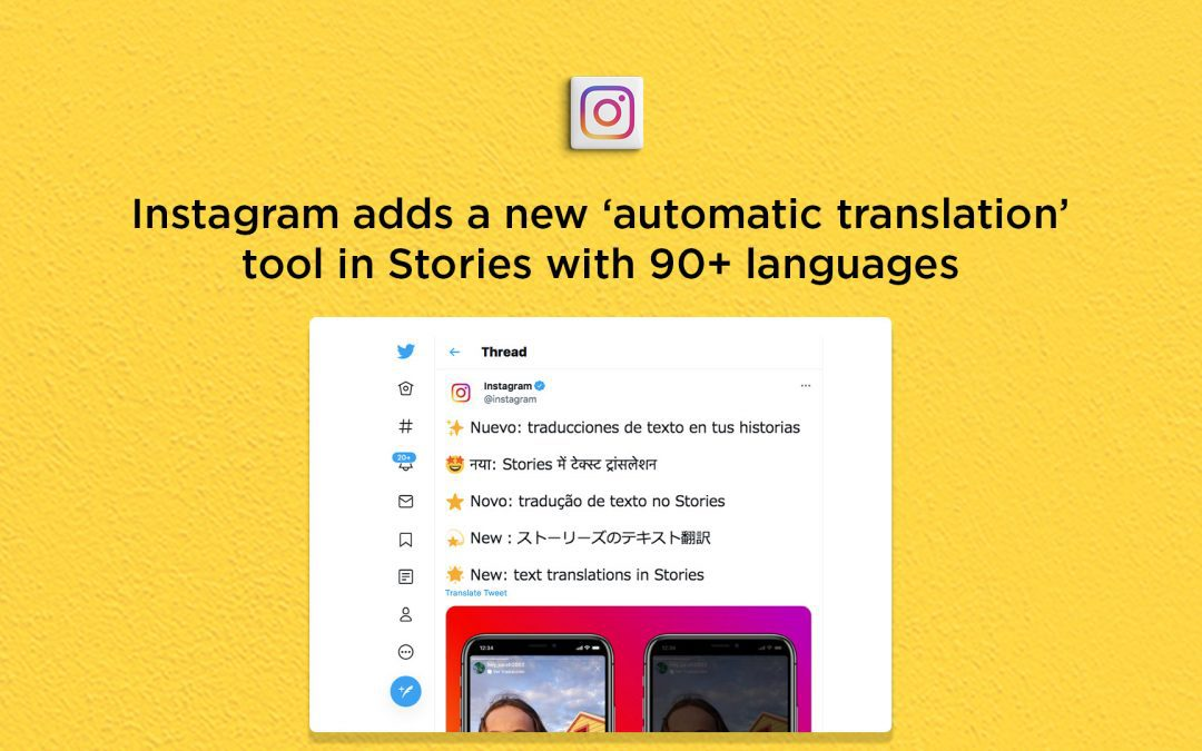 Instagram launches 'Text Translation' tool for Stories with 90+ languages