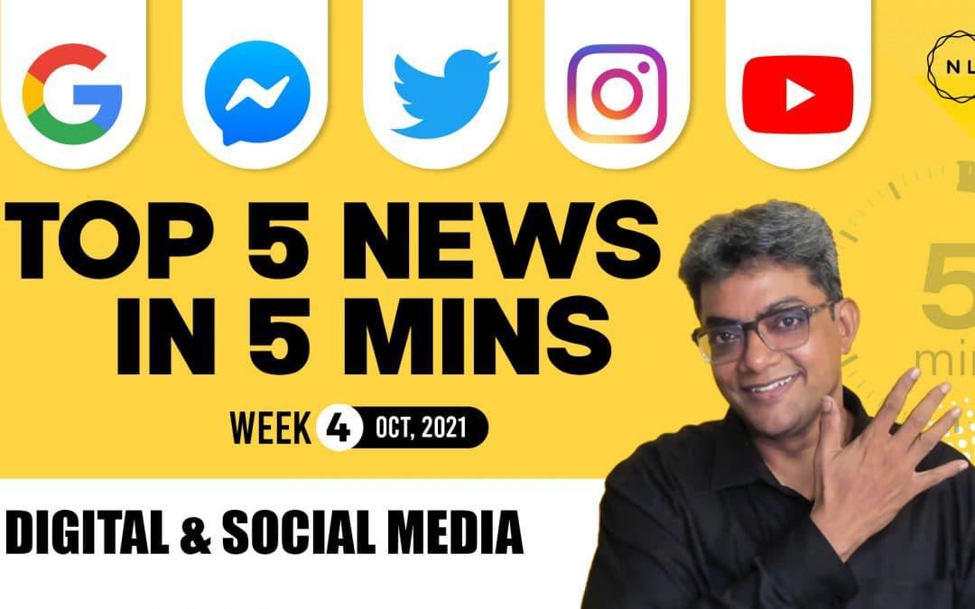 [Top 5] Weekly Digital & Social Media News: From Twitter, YouTube, Instagram, Google, Messenger – Week 4, October 2021